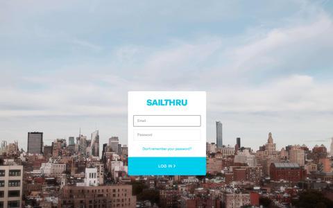 Screenshot of Login Page sailthru.com - Sign In - captured July 17, 2019