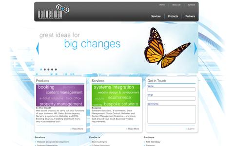 Screenshot of Home Page bannermantech.com - Bannerman Technology - captured Oct. 5, 2014
