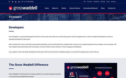 Screenshot of Developers Page grosswaddell.com.au - Developers | Gross Waddell - captured Oct. 14, 2017