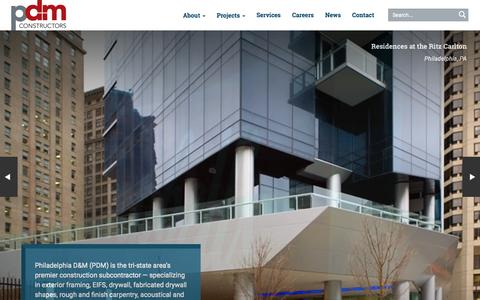 Screenshot of Home Page philadm.com - Home | PDM Constructors - captured Jan. 23, 2015