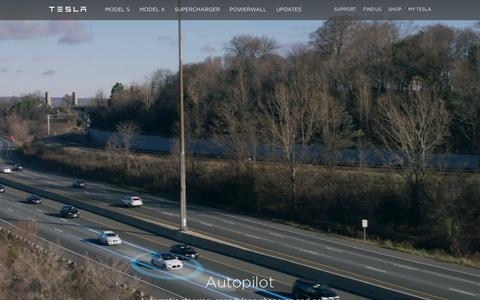 Screenshot of Home Page teslamotors.com - Tesla Motors | Premium Electric Vehicles - captured Feb. 15, 2016