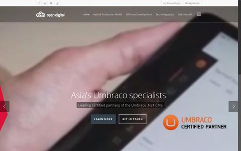 Screenshot of Home Page opendigital.asia - Open Digital - Offshore Web Development & Mobile Vietnam - captured Aug. 5, 2015