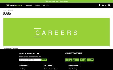 Screenshot of Jobs Page slickwraps.com - Jobs Available - captured Nov. 19, 2016