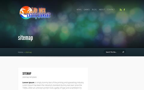 Screenshot of Site Map Page laidbackentertainment.com - sitemap | Laid-Back Entertainment - captured Sept. 29, 2014