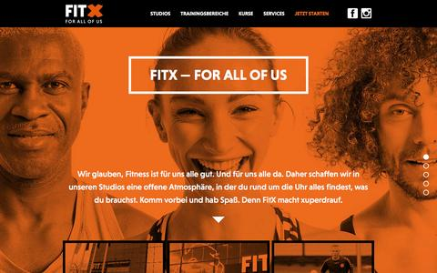 Screenshot of Home Page fitx.de - FitX Fitnessstudio | FOR ALL OF US - captured Feb. 21, 2016