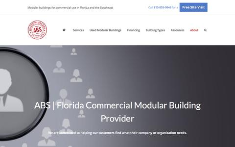 Screenshot of About Page abs10.com - Commercial Modular Building Company in Florida | Alternative Building Solutions - captured Nov. 20, 2016