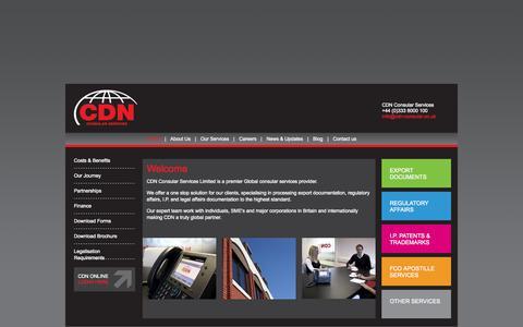 Screenshot of Home Page cdn-consular.co.uk - CDN Consular Services | Consular Agency in the UK - captured Jan. 30, 2015