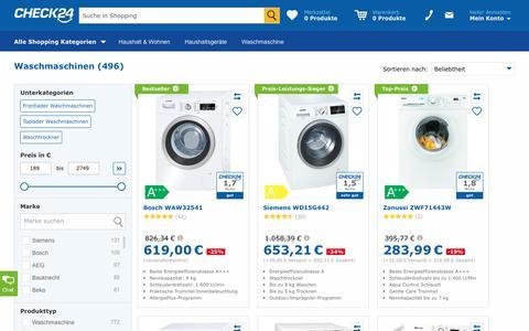 Waschmaschine günstig im CHECK24-Preisvergleich