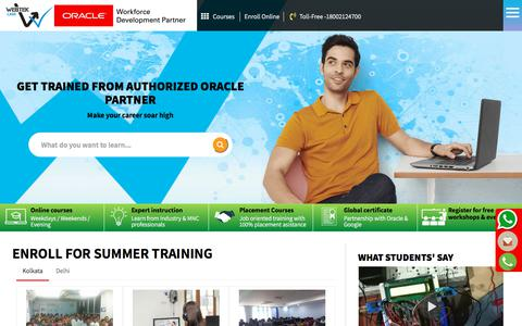 Screenshot of Home Page webteklabs.com - ISTQB Foundation - Software Testing Course-Industrial Training Institute - captured July 28, 2019