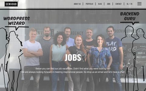 Screenshot of Jobs Page eenvoud.nl - Eenvoud Media | Jobs - captured July 16, 2018