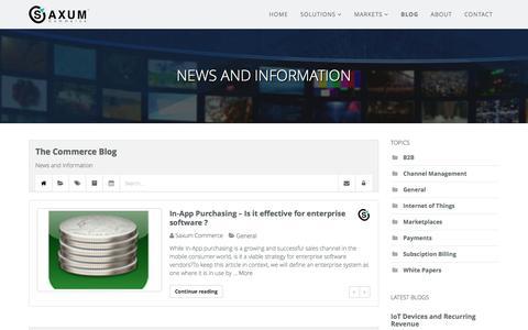 Screenshot of Blog saxumcommerce.com - Recent blog posts - The Commerce Blog - captured May 28, 2017