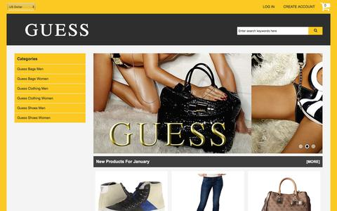 Screenshot of Home Page positivethinkingppt.com - Guess Online Shopping Cheap | Guess Women's Fashion Clothing Sale - captured Jan. 6, 2017