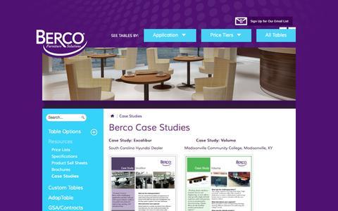 Screenshot of Case Studies Page bercoinc.com - Case Studies - captured Sept. 30, 2014