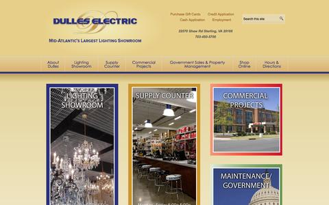 Screenshot of Home Page dulleselectric.com - Dulles Electric Supply Corp | Dulles Electric - captured Oct. 5, 2014