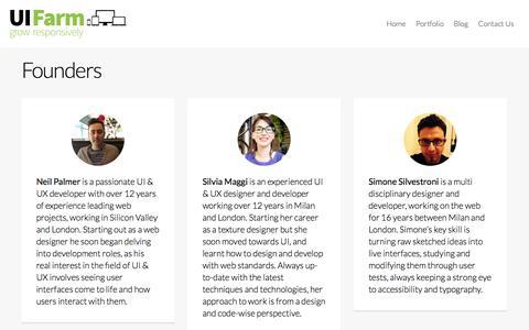 Screenshot of Team Page uifarm.co.uk - Founders | UI Farm - captured Nov. 2, 2014