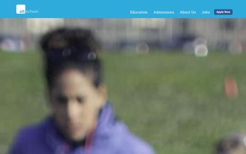 Screenshot of Home Page altschool.com - AltSchool - captured Jan. 19, 2016