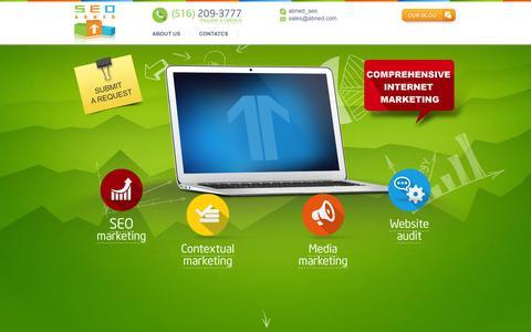 Screenshot of Home Page abned.com - Abned SEO: Internet Marketing Agency - captured Sept. 22, 2014