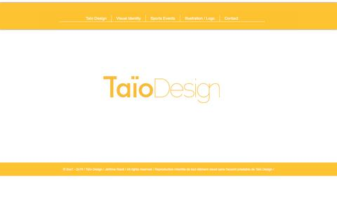 Screenshot of Home Page taiodesign.fr - Taio design I Art director I Visual identity - captured Nov. 2, 2017