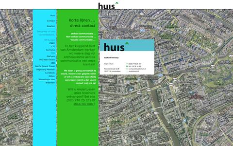Screenshot of Contact Page studiohuis.nl - Contact | StudioHuis - captured Oct. 9, 2014