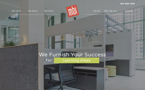 Screenshot of Home Page mbifurniture.com - Munson Business Interiors | Furnishing Your Success in Louisville, Ky - captured Oct. 19, 2018