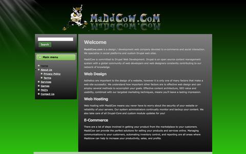 Screenshot of Home Page maddcow.com - Home | maddcow.com - captured Oct. 6, 2014