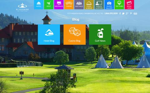 Screenshot of Blog steugene.ca - Resort News & Blog | St. Eugene Golf Resort & Casino | St. Eugene - captured Sept. 23, 2015