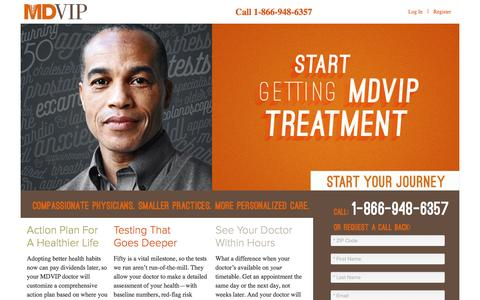 Screenshot of Landing Page mdvip.com - MDVIP | Start Getting MDVIP Treatment - captured Oct. 15, 2016