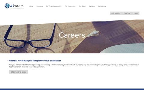 Screenshot of Jobs Page atwork.co.za - Careers | atWORK - captured Oct. 21, 2018