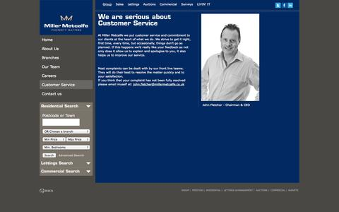 Screenshot of Support Page millermetcalfe.co.uk - Miller Metcalfe Estate Agents, Property Sales & Lettings - captured Sept. 25, 2014