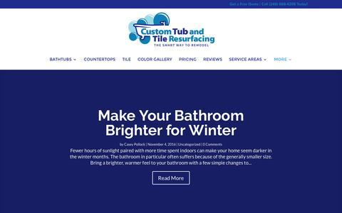 Screenshot of Blog customtubandtile.net - Blog | Custom Tub and Tile Resurfacing - captured Nov. 14, 2016
