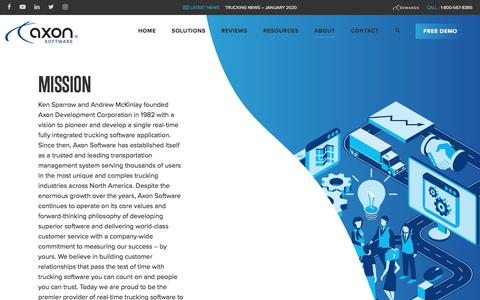 Screenshot of About Page axonsoftware.com - Axon Software | Our Company - captured Feb. 19, 2020