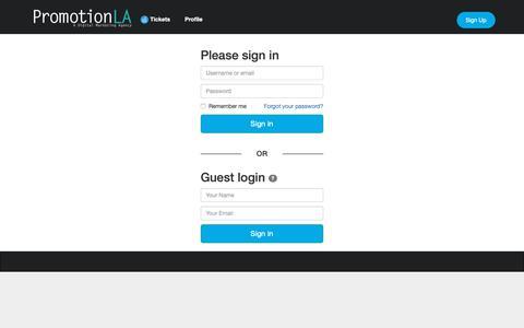 Screenshot of Support Page promotionla.com - Help-Desk - captured Dec. 8, 2018