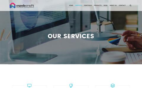 Screenshot of Services Page ewebcraft.com - Web Design Services – Best Web Design Company - eWebCraft - captured May 25, 2017