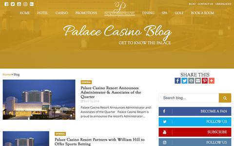 Screenshot of Blog palacecasinoresort.com - Palace Casino News | Palace Casino Resort | Biloxi, MS - captured July 15, 2018