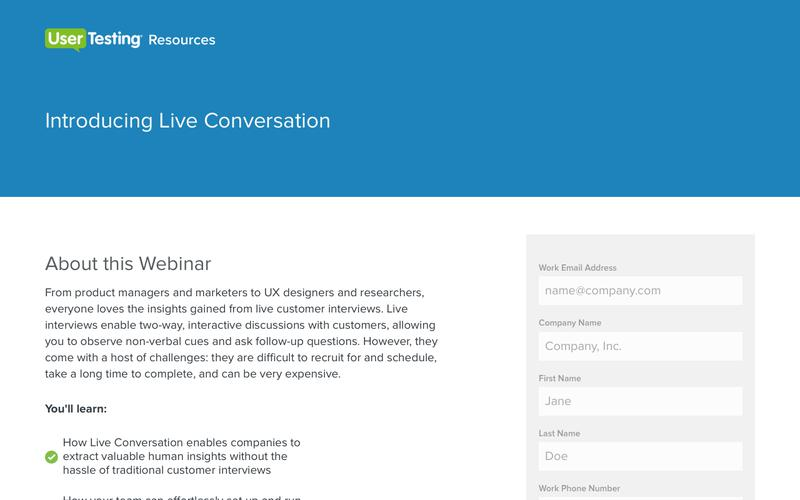 Introducing Live Conversation from UserTesting