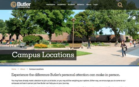 Screenshot of Locations Page butlercc.edu - Campus Locations | Butler Community College - captured Sept. 23, 2016