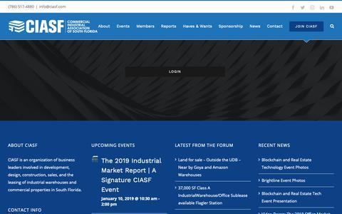 Screenshot of Login Page ciasf.com - Log in | CIASF - captured Dec. 7, 2018