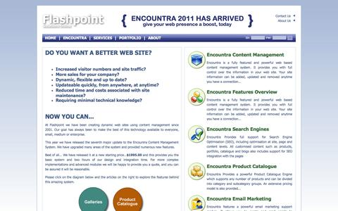 Screenshot of Home Page About Page Privacy Page Contact Page Services Page Terms Page flashpointnz.com - Home - Flashpoint Limited - captured Oct. 6, 2014