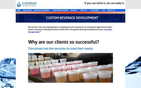 Screenshot of Services Page flavorman.com - Services | Flavorman - captured Sept. 30, 2014