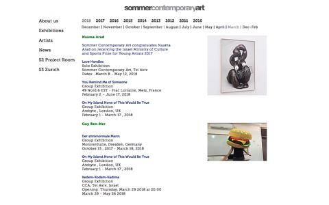 Screenshot of Press Page sommergallery.com - News December - February 2017 | Sommer Contemporary Art - captured Aug. 6, 2018