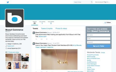 Screenshot of Twitter Page twitter.com - Blueurl Commerce (@blueurl) | Twitter - captured Nov. 4, 2014
