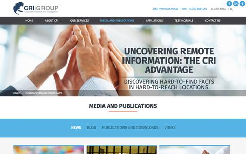Screenshot of Press Page crigroup.com - Press Releases | CRI Group - captured Sept. 3, 2017