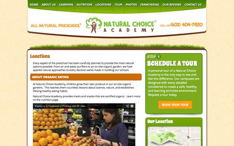 Screenshot of Locations Page naturalchoiceacademy.com - Locations | Natural Choice Academy - captured Sept. 30, 2014