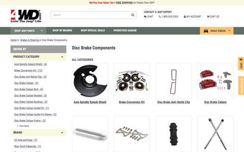Jeep Disc Brake Components | Disc Brake Components for Wrangler at 4WD.com