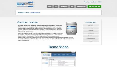 Screenshot of Locations Page ducotrax.com - Ducotrax - Product Tour - Location - captured Oct. 5, 2014