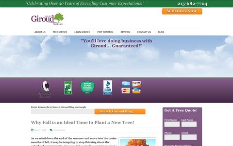 Screenshot of Blog giroudtree.com - Giroud Tree and Lawn Blog - captured Sept. 28, 2018