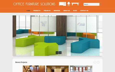 Screenshot of Home Page ofsinteriors.com - Office Furniture Solutions - Utah | Colorado | Nevada | Wyoming - captured Oct. 6, 2014
