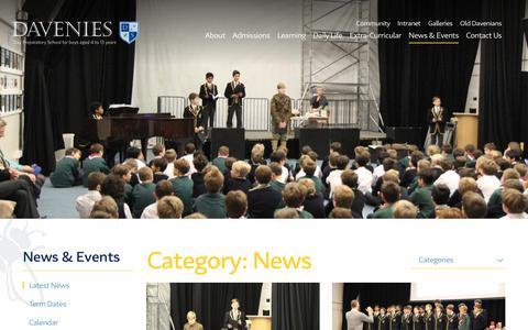 Screenshot of Press Page davenies.co.uk - News Archives - Davenies School - captured Nov. 13, 2018
