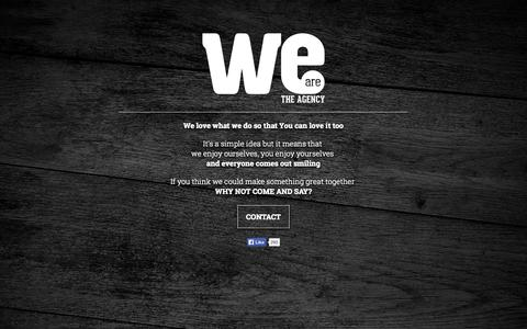 Screenshot of Home Page weare.co.hu - WeAre - the agency - captured Oct. 7, 2014