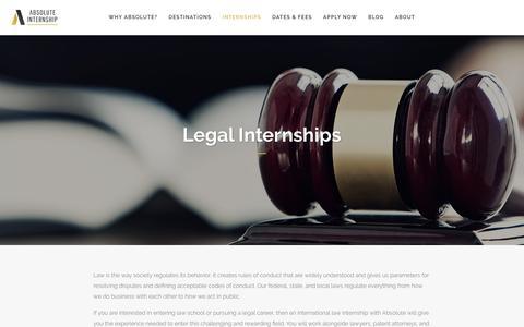 Screenshot of Terms Page absoluteinternship.com - Legal Internships - Absolute Internship - captured May 29, 2017
